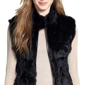 Linda Richards Fur Reversible Vest L Black $398